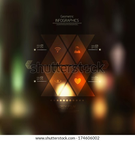 Retro abstract background. Geometric style-web and mobile interface template. Can use for infographics. Vector - stock vector