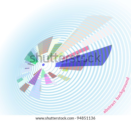 Retro abstract background - stylized blue vinyl. EPS10 - stock vector