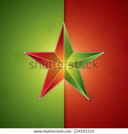 Retro abstract christmas star background.Vector illustration - stock vector
