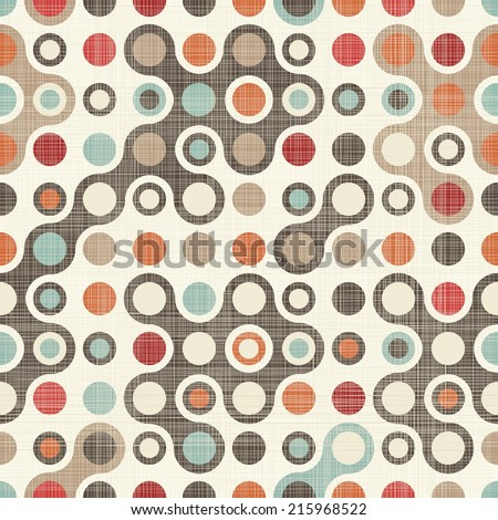 retro abstract colorful seamless pattern  - stock vector
