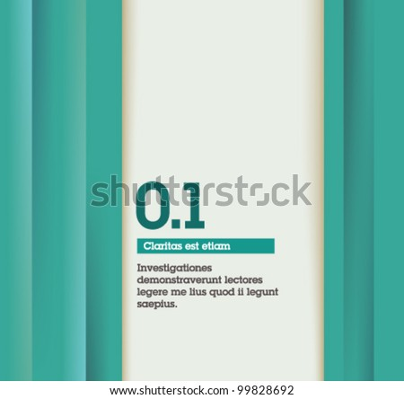 Retro Abstract Design - Fully editable / suitable for infographics / numbered banners / blue design template - stock vector