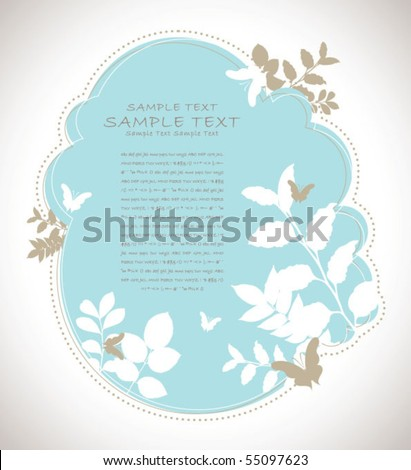 retro abstract flora background 01 - stock vector