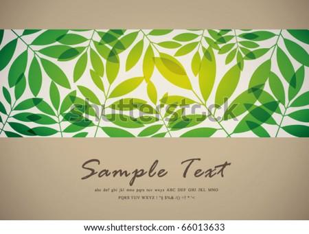retro abstract flora background 25 - stock vector