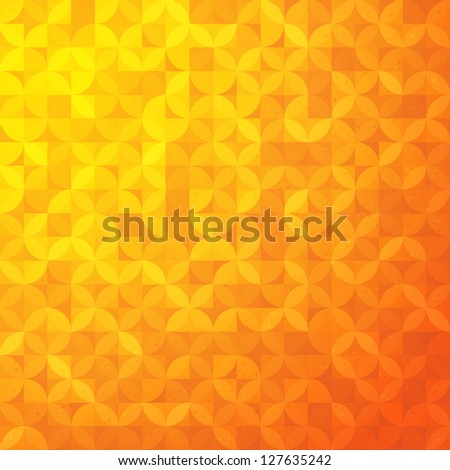 Retro abstract pattern. - stock vector