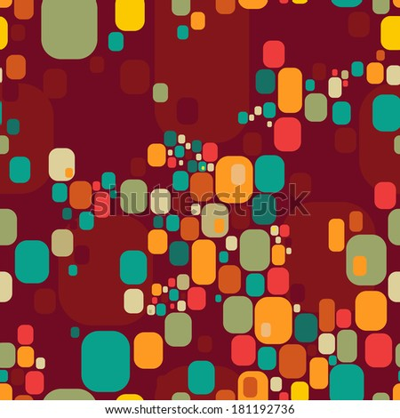 Retro abstract seamless pattern. Can be used in textiles, for book design, website background.  - stock vector