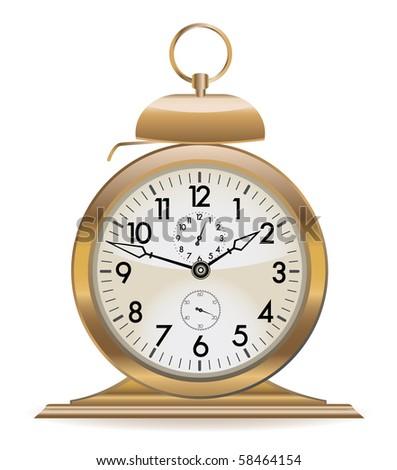 retro alarm clock - stock vector