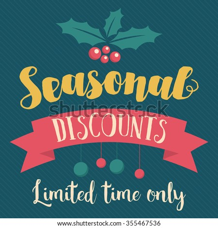 Retro and vintage seasonal sale and discounts. Retail banner and poster. - stock vector