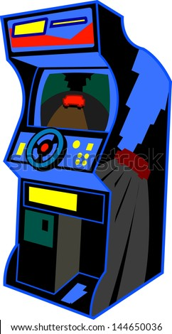 Retro Arcade Video Game Illustration - stock vector