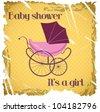 Retro baby shower. vector illustration - stock vector