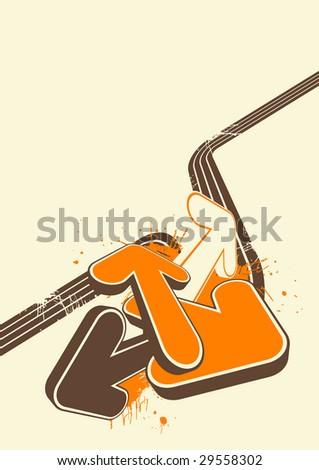 retro background arrow - stock vector