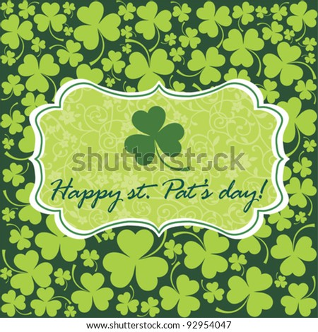 Retro background for St. Patrick's Days with place for your text. Vector Illustration - stock vector