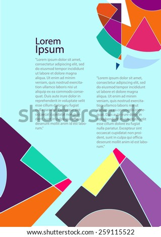 Retro Background for text - stock vector
