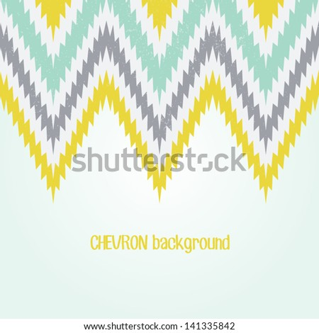Retro background in pastel color. Beautiful chevron texture. Abstract invitation card with zig zag ornament. Classic background. Background for your textile or skin design.