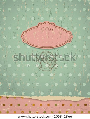Retro  background. Invitation to the wedding or announcements. ESP 10 - stock vector