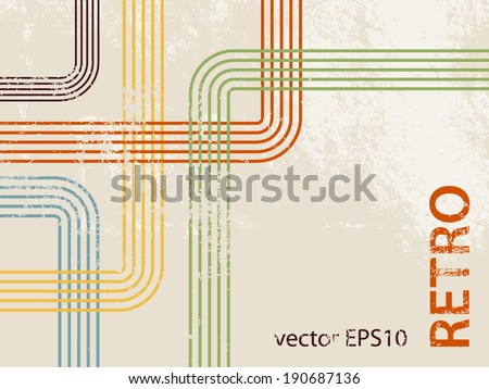 Retro background pattern 70s - stock vector