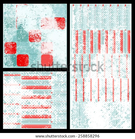 Retro Background Set for Text - stock vector