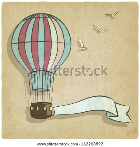 retro background with aerostat - vector illustration - stock vector