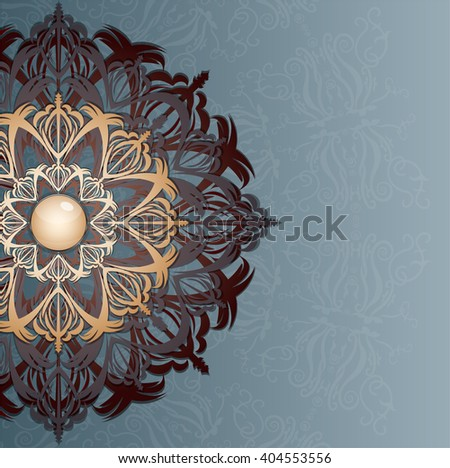 Retro background with ornament, Illustration 10 version - stock vector