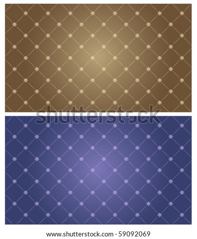 retro background with patterns - stock vector