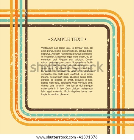 Retro background with place for your text. Vector illustration