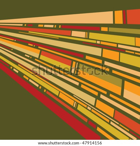 Retro background with stylized stripes - stock vector