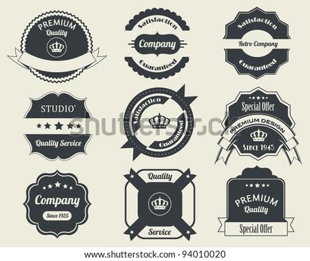 Retro Badges Vector Design 02 - stock vector