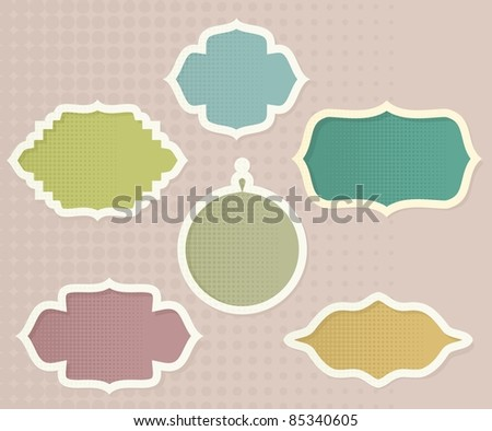 retro banners - stock vector