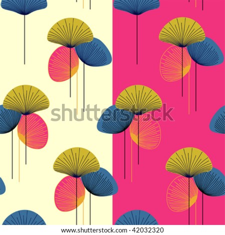 retro beautiful  seamless vector pattern - stock vector