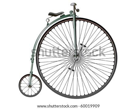 Retro bicycle - stock vector
