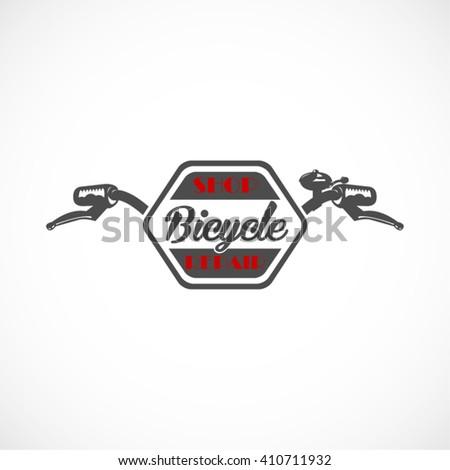 Retro Bicycle Handlebar Vector Label Logo Stock Vector 410711932 ...
