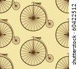 retro bike background - stock vector