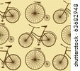 retro bike background - stock vector