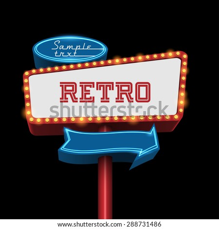 Retro billboard - stock vector