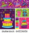 Retro Birthday Celebration - stock vector