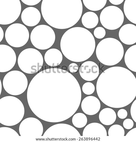 Retro black and white seamless circle background - stock vector
