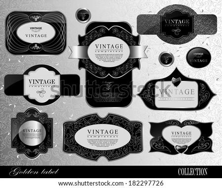Retro black label/can be used for invitation, congratulation - stock vector