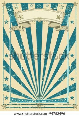 retro blue poster. A vintage blue background for your message.