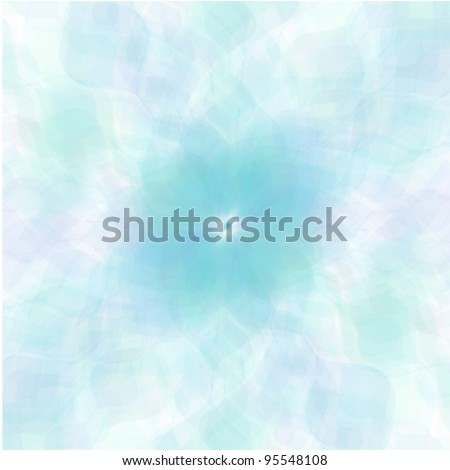 Retro blue vector pastel flowers background - stock vector