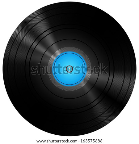 Retro Blue Vinyl Disc Record