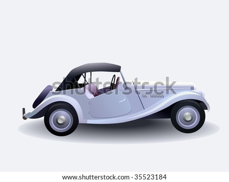 retro car - stock vector