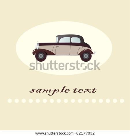 retro car - stock vector