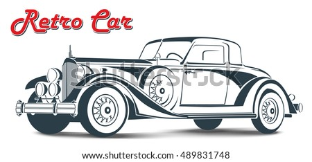retro car vintage car vector illustration stock vector royalty free rh shutterstock com antique car vector art vintage car vector free download