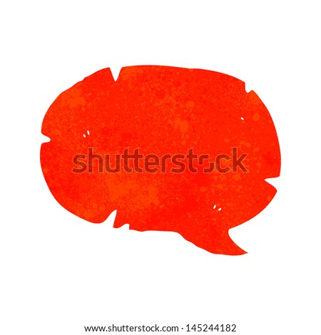 retro cartoon comic book speech bubble - stock vector