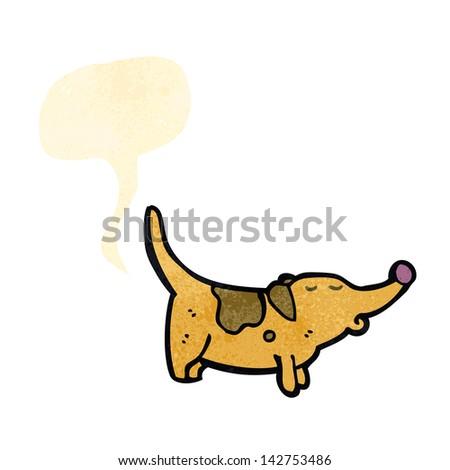 retro cartoon farting dog - stock vector