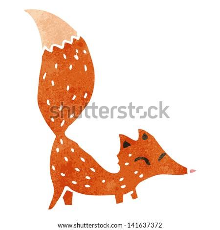 retro cartoon fox - stock vector