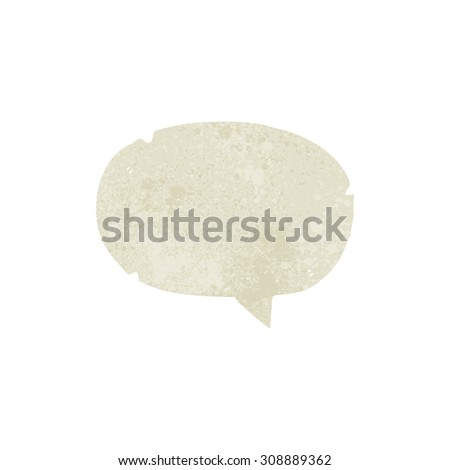 retro cartoon speech balloon - stock vector