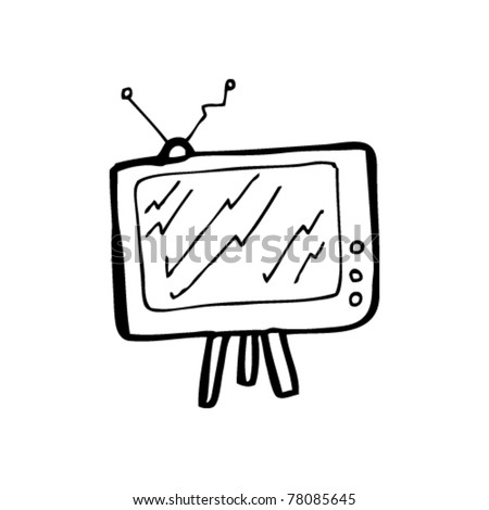 retro cartoon television - stock vector