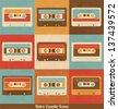 Retro Cassette Icons - stock vector