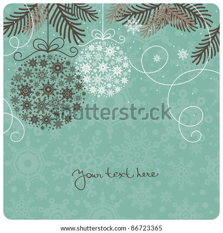 Retro Christmas background - stock vector