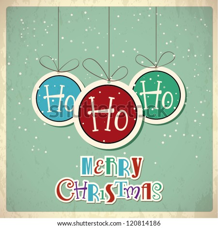 Retro Christmas background. Vector illustration - stock vector